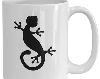 db802ca79e5 Gecko mug white lizard coffee cup funny gift for lizard queen mom dad lover