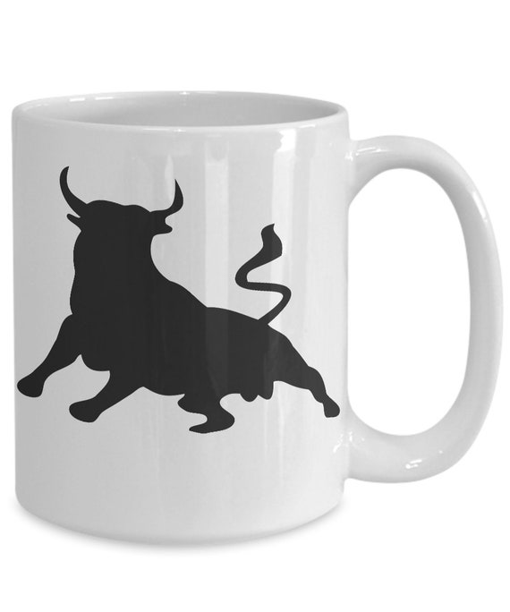 Bison Mug Buffalo White Coffee Cup Gift for Hunting Farmer Rancher Yellowstone