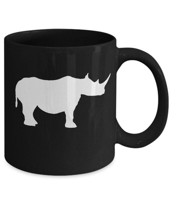 11oz mug Vintage Rhino Printed Ceramic Coffee Tea Cup Gift