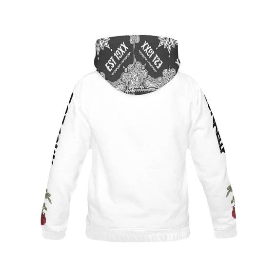 Bloom Black Flag EST 19XX All Over Print Hoodie hngOw
