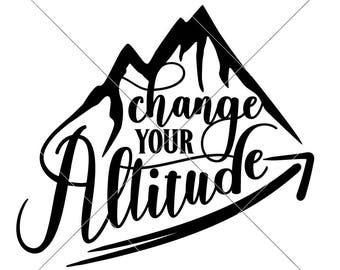 mountain hiking etsy Myanmar City change your altitude mountain hiking svg dxf files for cutting machines like silhouette cameo and cricut mercial use digital design