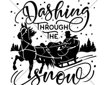 dashing through snow etsy 1000 Ft. to Miles dashing through the snow svg eps dxf files for cutting machines like silhouette cameo and cricut mercial use digital design