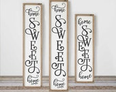 Home sweet Home Farmhouse SVG, 3 vertical files for long porch sign, front door design, for Cutting Machines, Commercial Use Digital Design