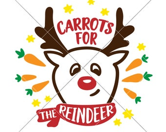 Carrots for the reindeer SVG eps dxf png   Files for Cutting Machines like Silhouette Cameo and Cricut, Commercial Use Digital Design