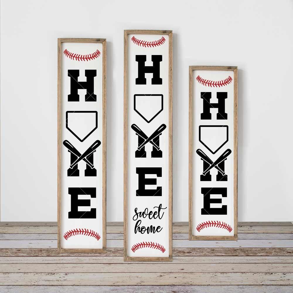 Home sweet Home Baseball SVG 3 vertical files for long ...