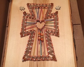 String Art Cross Miracles