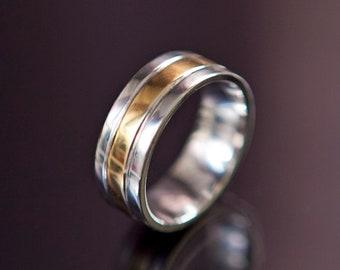 Vintage jewelry Mens ring vintage ring men Silver gold ring Mens ring for men Simple jewelry Vintage ring Mens silver ring Gold plated ring