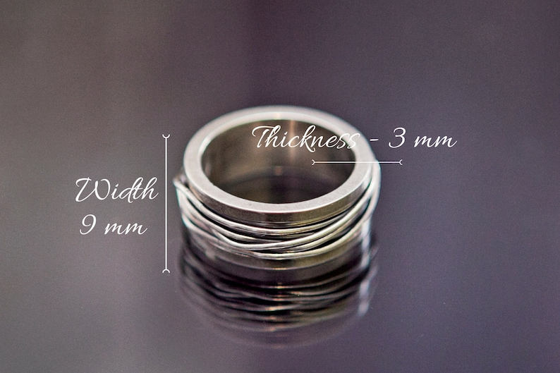 Extra fast delivery Silver ring Men Custom engraved ring Minimalist ring Wire wrapped ring Thumb ring Pinky ring Index ring Fathers day gift