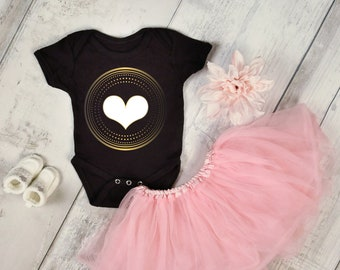 Girls heart onsie or t-shirt