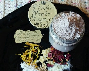 Flower Power or Citrus Charge Cleansing Grains & Mask