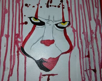 IT// Pennywise Bill Skarsgard Painting