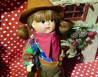 1940s Toddles or Toodles Doll Vogue /Composition Cowgirl Costume
