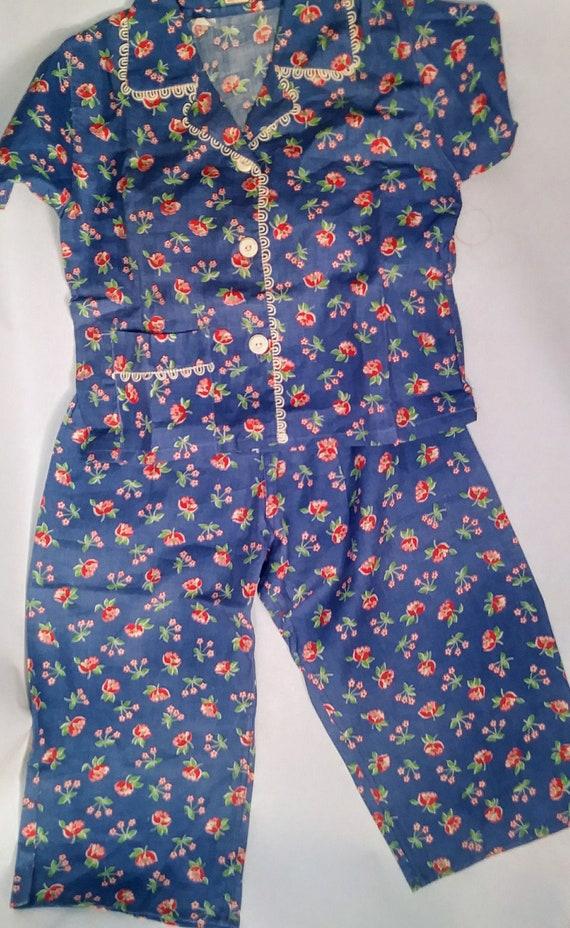 Deadstock Feed Sack Pajamas