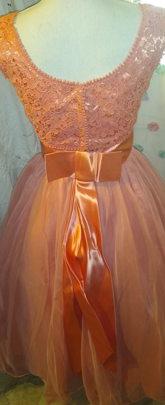 1940s French Organza Party Dress