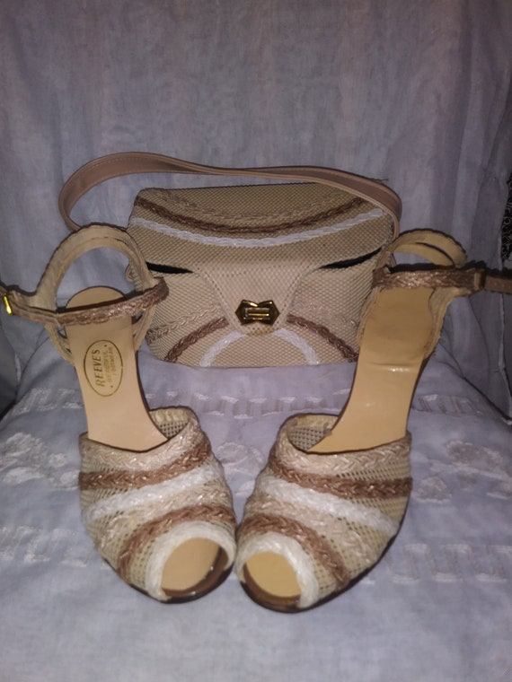 Vintage Deadstock Matching Shoes and Handbag New I