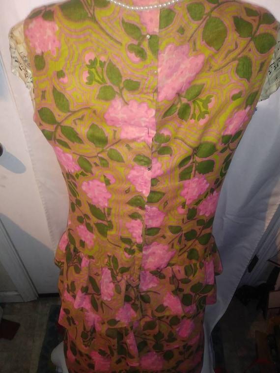 1960s Sleevless Sheath Dress - image 2