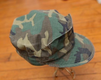 Vintage Army Utility Green Camo Hat Hunting cap Men s Camouflage Hat  Hipster Unisex 4d274268210d