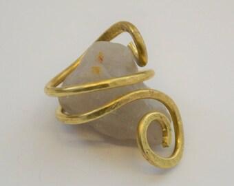 Brass Wire Spiral Ring