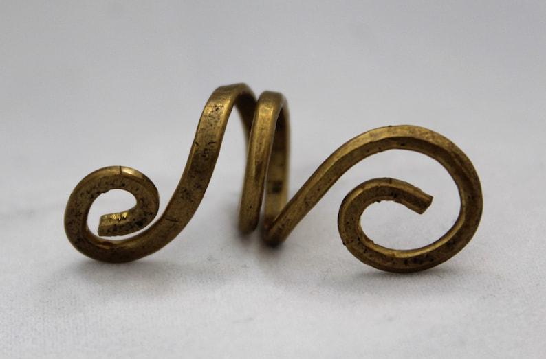 Spiraled Brass Dreadlock Accessory
