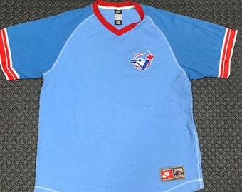 9ba52c7e8 Vintage 90s Toronto Blue Jays V-Neck Nike Team Wear T-Shirt