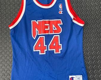 b3edf2d5171 Vintage 90s New Jersey Nets Champion Basketball jersey #44 Derrick Coleman