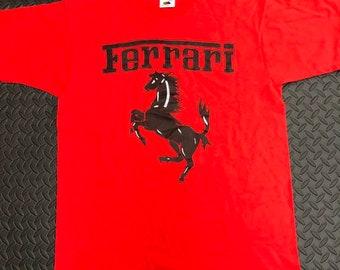 d417ef33bbd Vintage 90s Ferrari Racing Single stitch T-shirt