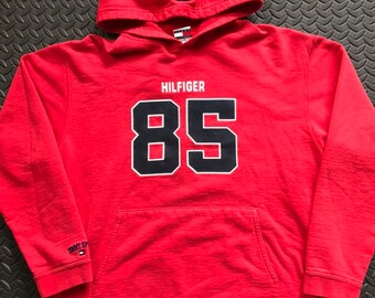 ff28251037e23 Vintage 90s Tommy Hilfiger 85 pullover spellout hoodie