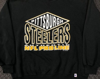 85d0f421e Vintage 90s Pittsburgh Steelers Pro Line authenitc NFL crewneck sweater by  Russell