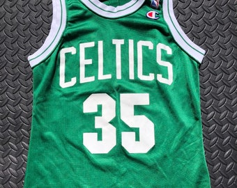 7809f407e Vintage 90s Boston Celtics  35 Reggie Lewis Champion NBA Jersey