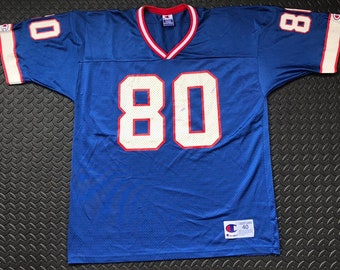 73581e40d Vintage 90s Buffalo Bills  80 Eric Moulds Champion NFL Football Jersey