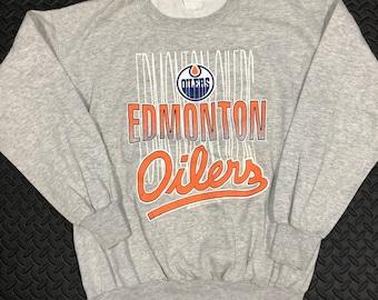 6516b4016fa Vintage 1991 Edmonton Oilers NHL crewneck sweater by Bulletin
