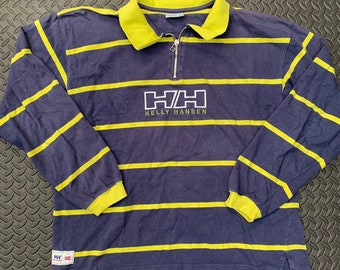 bf563994d64 Vintage 90s Helly Hanson Rugby Striped Polo