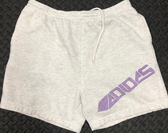 a5e69d99d9 Vintage 80s Adidas embroidered spellout gym shorts