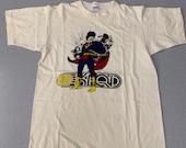 Vintage 80s Okfqd Radio Superman single stitch Champion T Shirt