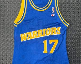 434b6ceca25 Vintage 90s Golden State Warriors Champion Basketball jersey #17 Chris  Mullins