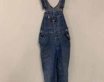 Ikeda Vintage 80/'s Women/'s XS Carpenter Denim Blue Jean Overalls