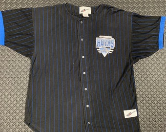 4976a612ebd Vintage 90s Georgetown Hoyas Back Spell Put Graphic Baseball Jersey by  Ravens