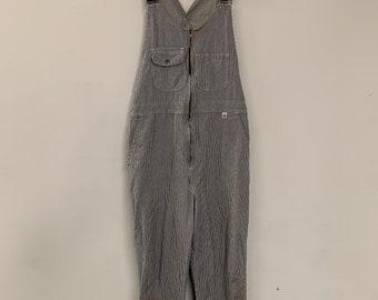 Vintage 90s Big Bill Industrial Pin Stripe Denim Work overalls