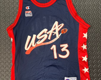 782948edacf Vintage 90s Team USA Shaquille O'Neal #13 Champion Jersey
