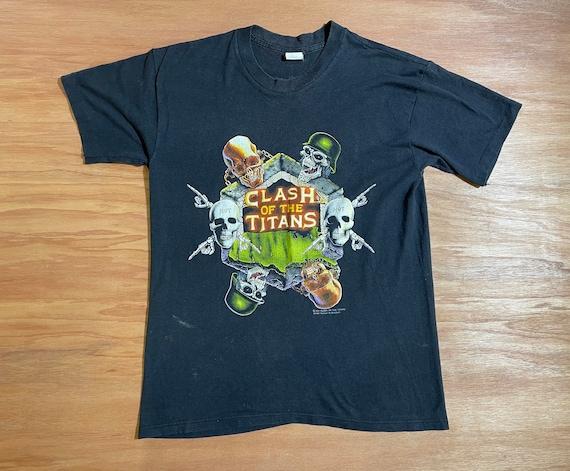 Clash Of The Titans Vintage 1991 Graphic Tour Shir