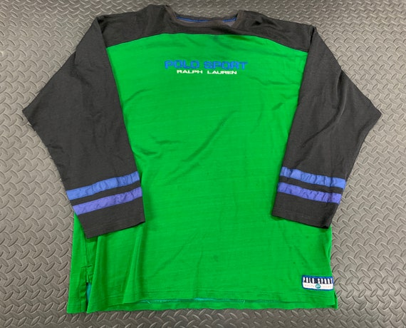 Vintage 90s Polo Sport Spellout Long Sleeve Jersey