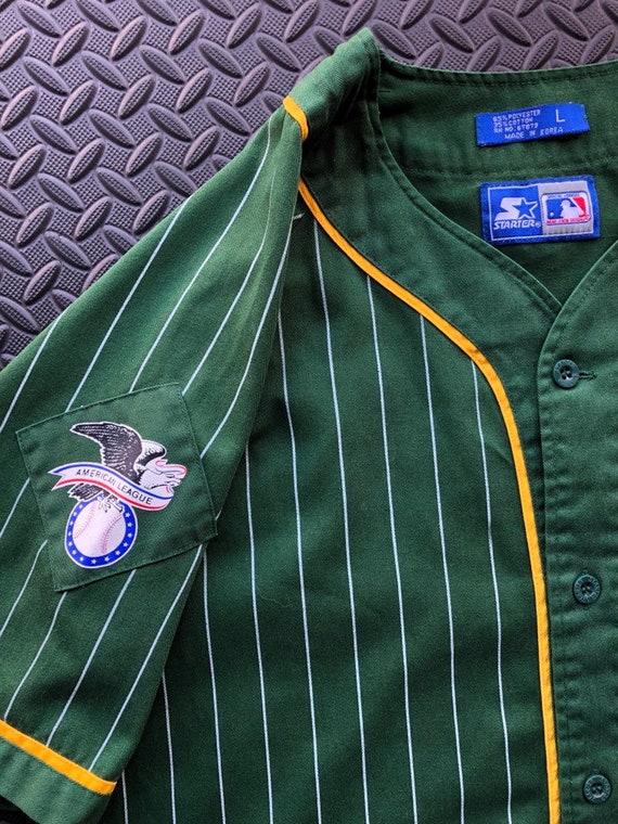 À années fines rayures Oakland athlétisme Starter Baseball des années À 90 en Jersey 1bb6c2