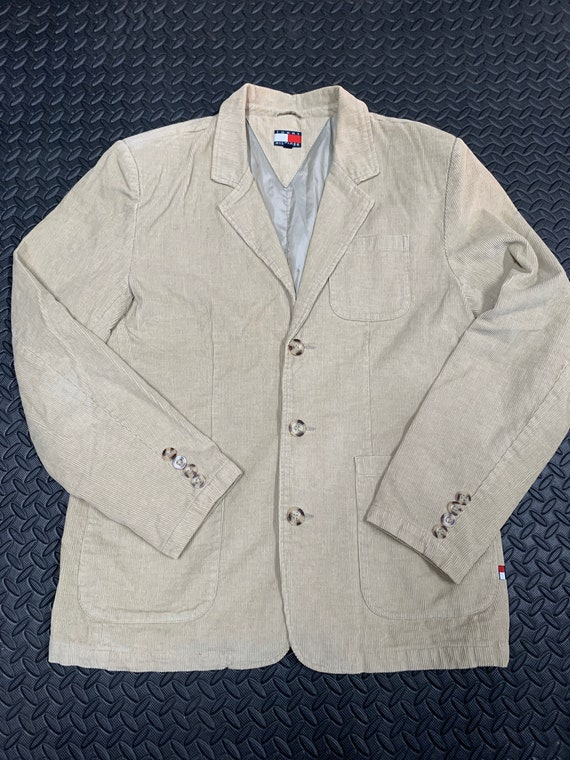 Vintage 90s Tommy Hilfiger Corduroy Blazer Suit ja