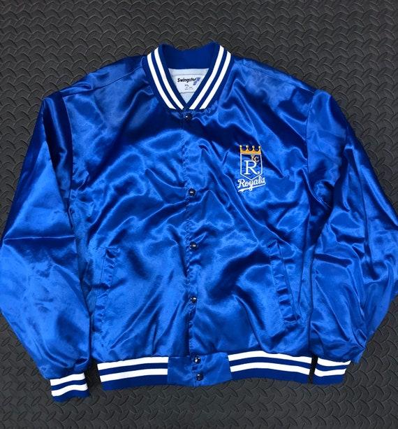 Vintage 90s Kansas City Royals MLB Satin Jacket