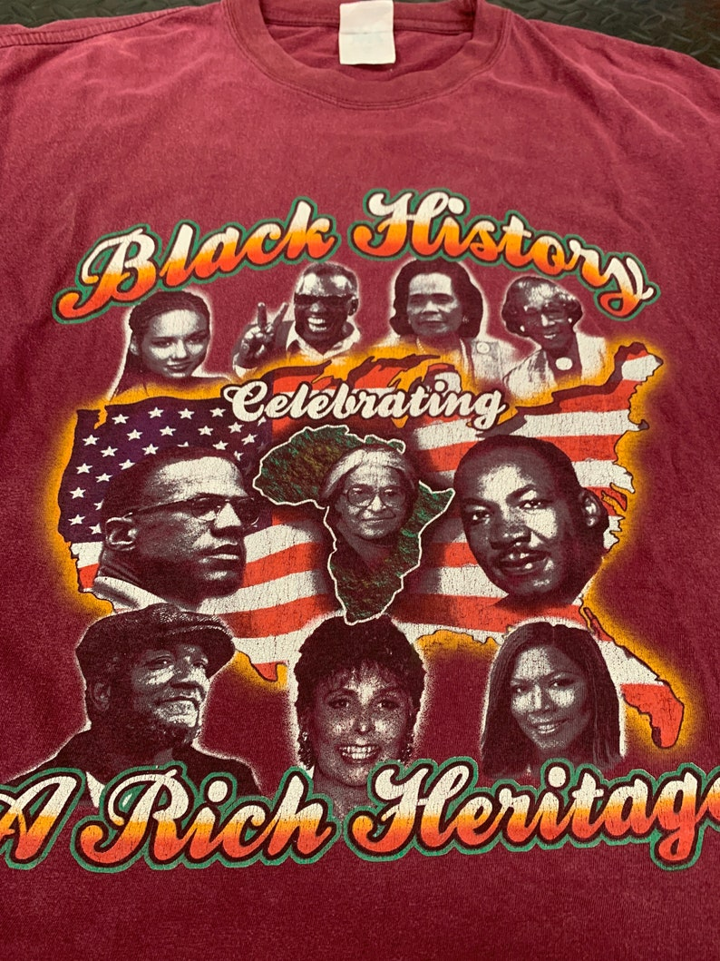 Vintage 90s Black History Month Iconic African Heritage T Shirt