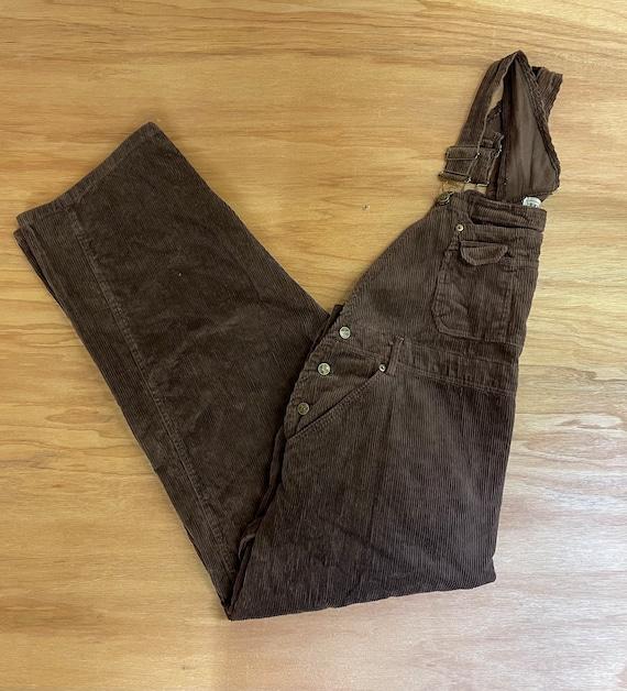 Vintage 90s Corduroy Brown Overalls