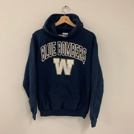 Vintage 90s Winnipeg Blue Bombers Graphic Hoodie