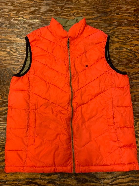 Vintage 90s Tommy Hilfiger Reversible Zip Up Vest - image 1