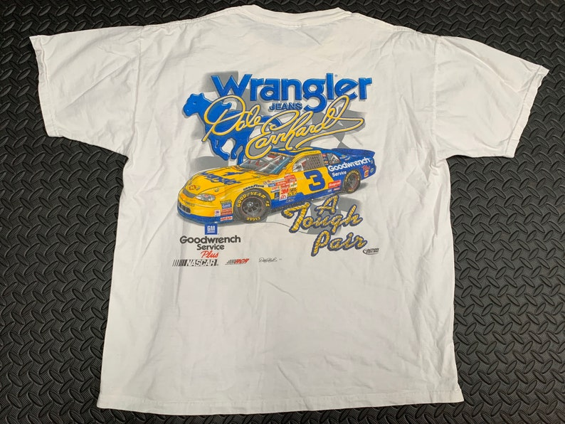 Vintage 90s Dale Earnhardt Wrangler jeans 1999 Tough customer #3 Goodwrench racing All over Print T-shirt