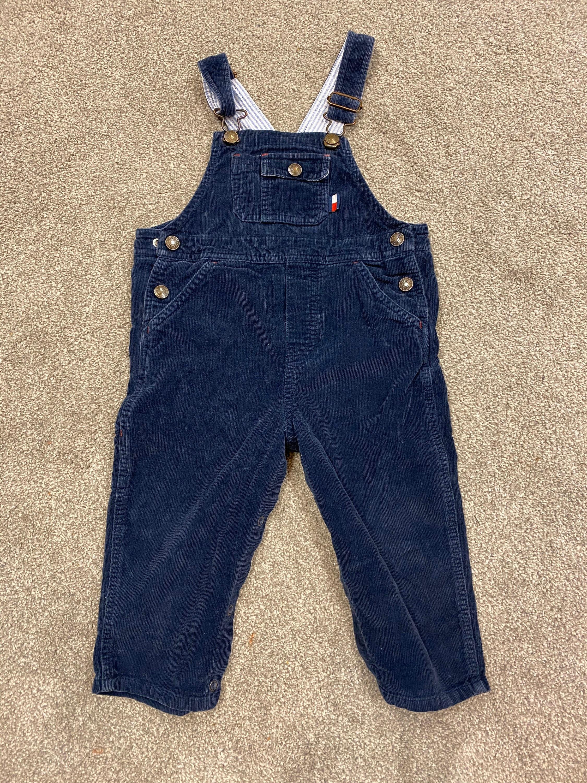 Vintage Overalls & Jumpsuits Vintage 90S Tommy Navy Corduroy Denim Kids Overalls $0.00 AT vintagedancer.com